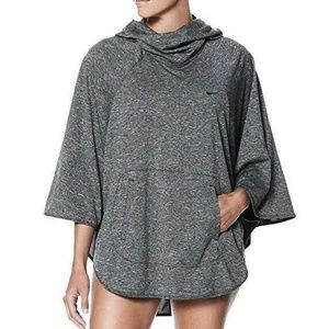 Nike Swim Heather Grey Pullover Poncho Medium